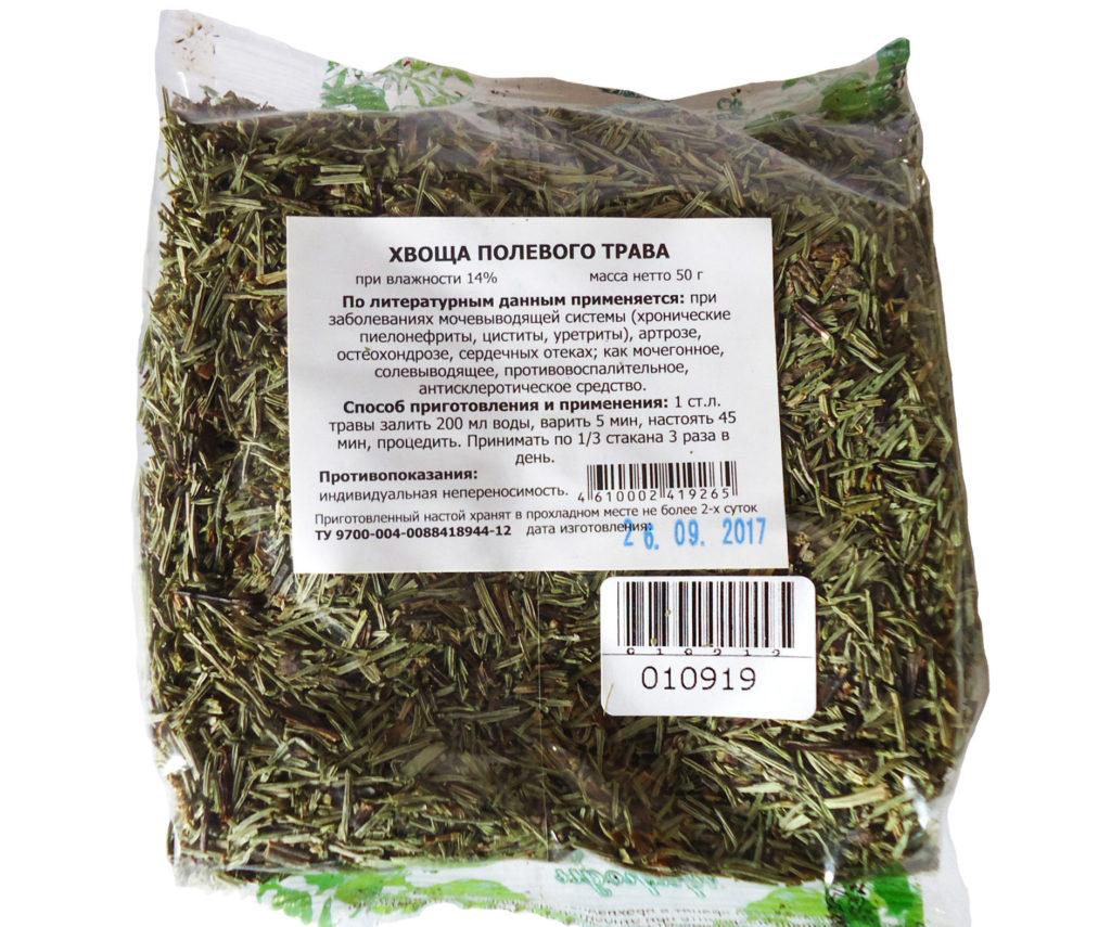 Мочегонный травяной сбор хвоща полевого