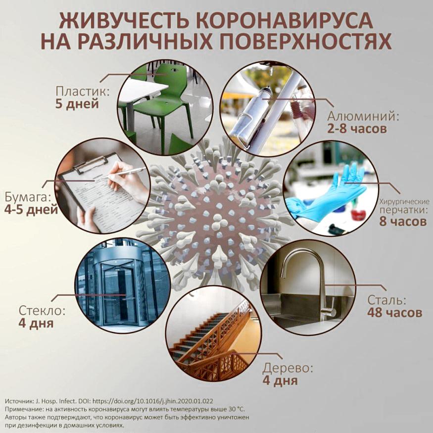 Сколько живет коронавирус на поверхностях