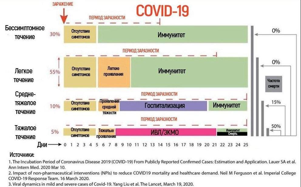 Формы течения COVID-19