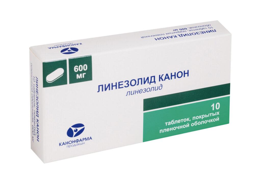 Линезолид в форме таблеток