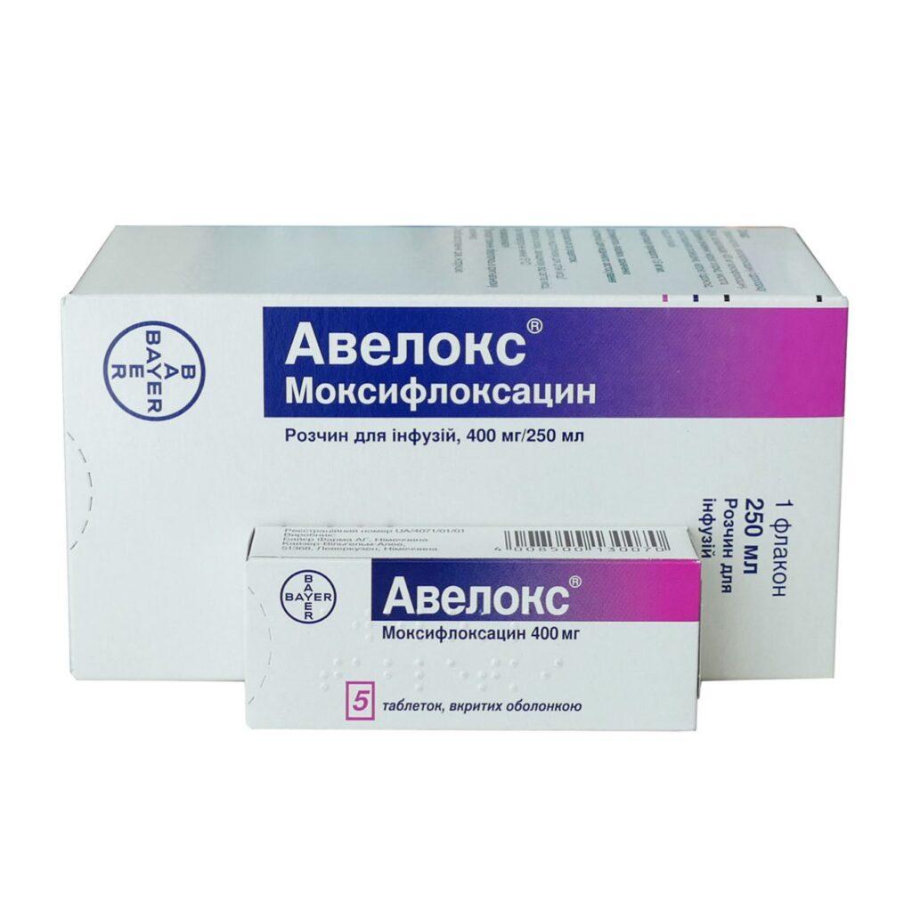 Моксифлоксацин под торговым наименованием - Авелокс